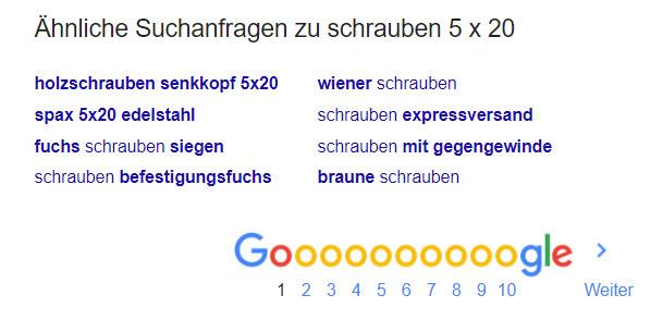 Schrauben 5x20 Suchergebnis