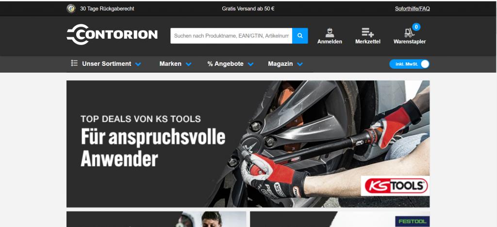 B2B E-Commerce Beispiel: Contorion